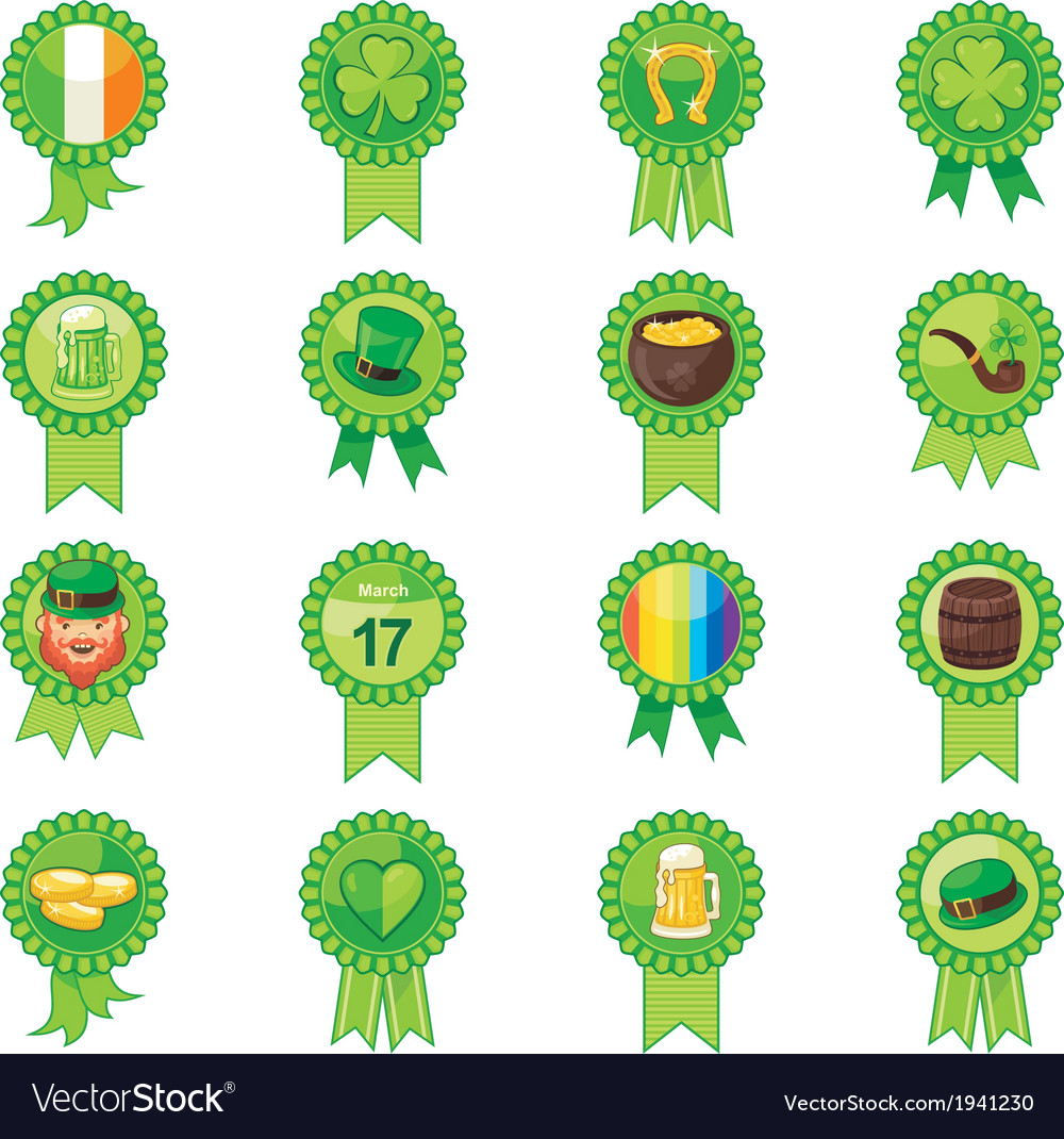 Saint patricks day badges vector | Price: 1 Credit (USD $1)