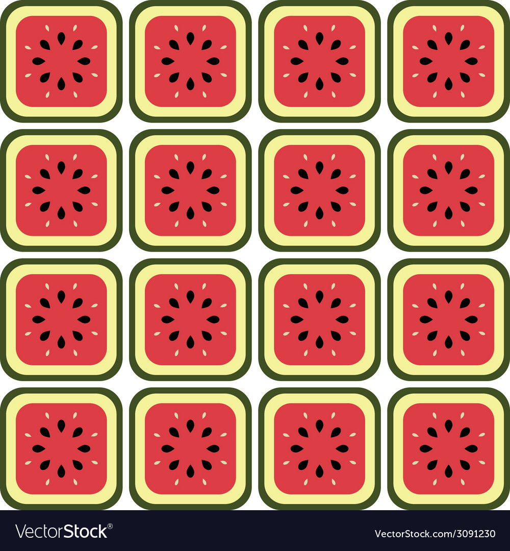 Seamless melon pattern vector | Price: 1 Credit (USD $1)