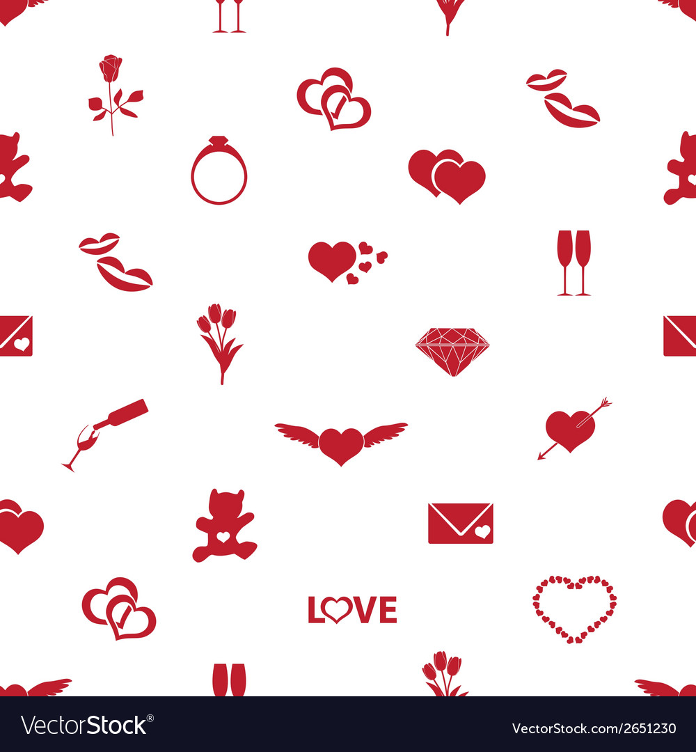 Valentines day and love pattern eps10 vector | Price: 1 Credit (USD $1)