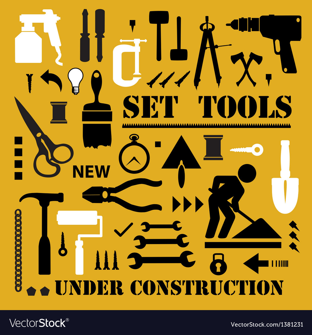 A set of tools silhouettes vector | Price: 1 Credit (USD $1)