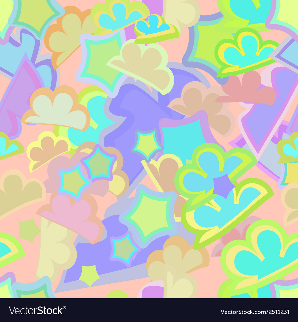 Abstract background childrens seamless pattern vector | Price: 1 Credit (USD $1)