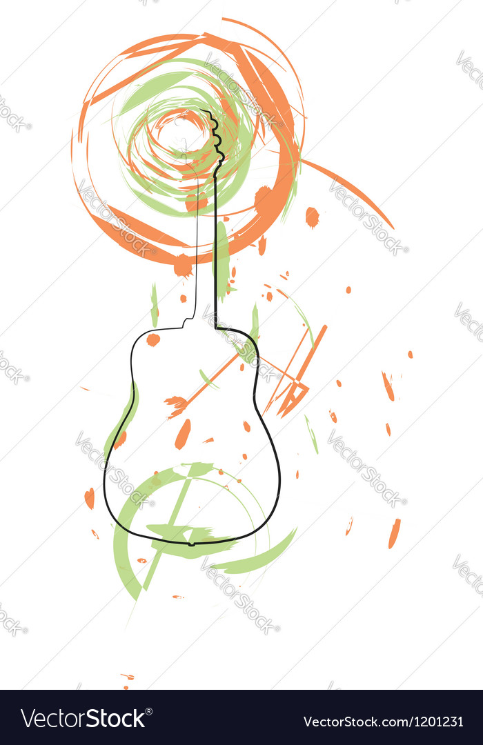 Abstract guitar vector | Price: 1 Credit (USD $1)