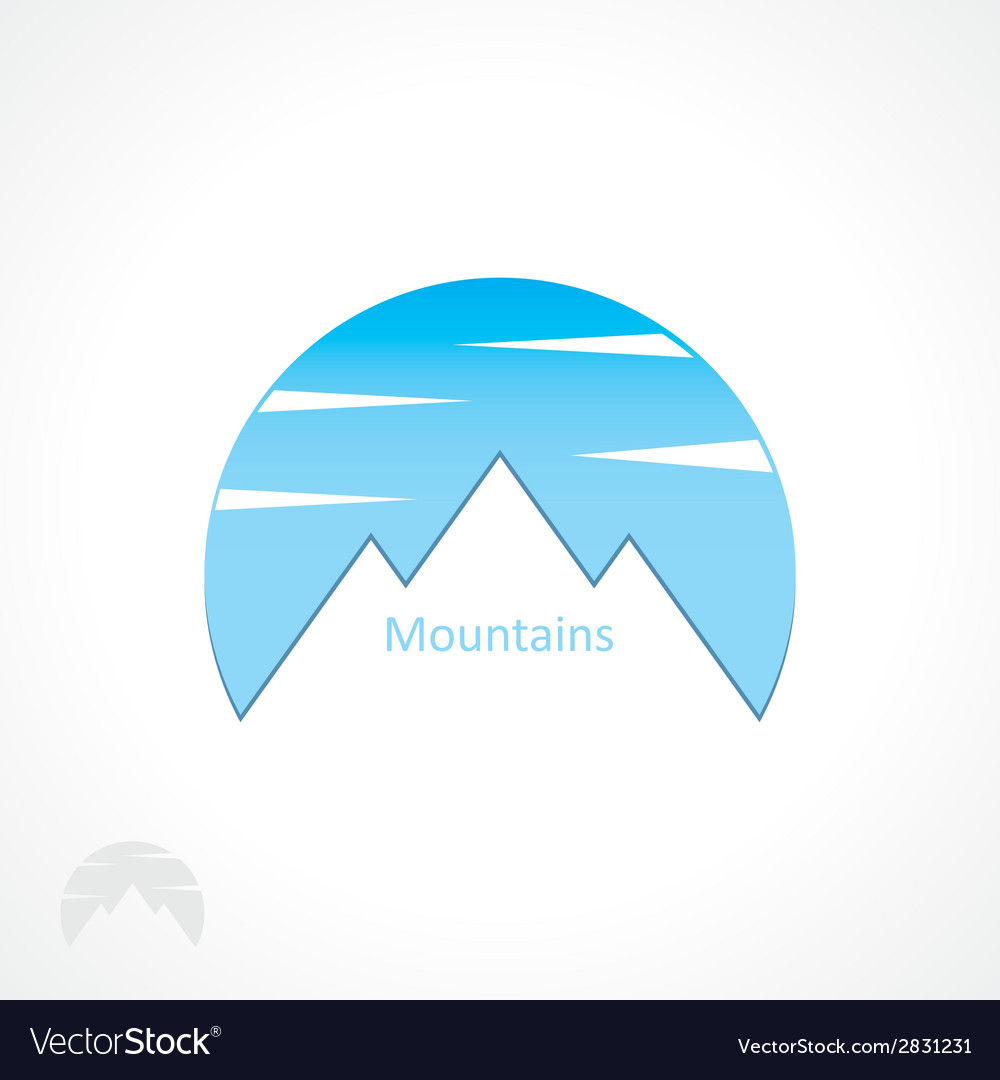 Badge mountains vector | Price: 1 Credit (USD $1)