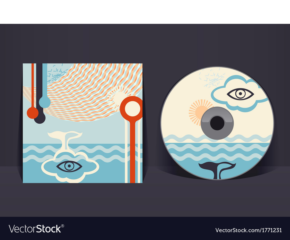 Cd cover design template eps 10 transparencies vector   Price: 1 Credit (USD $1)