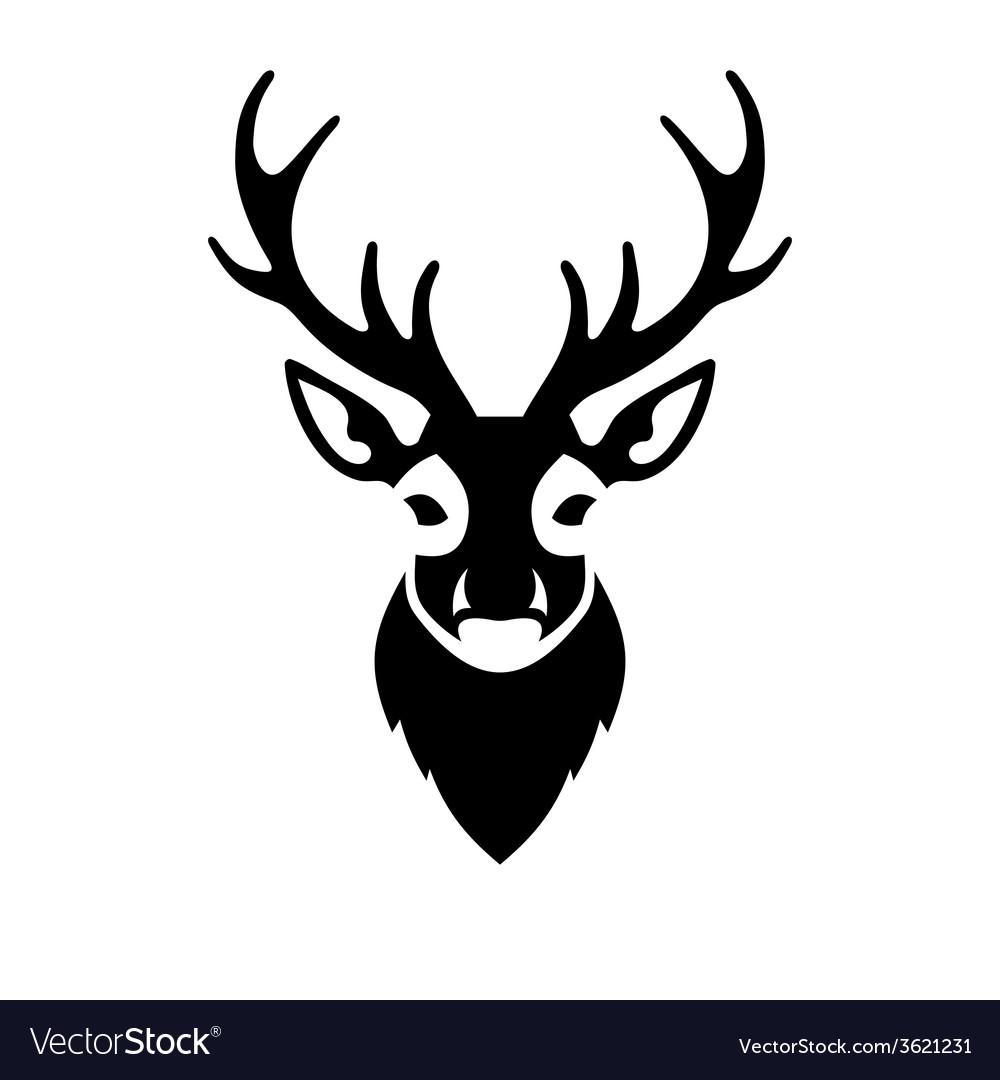 Deer head icon logo vector | Price: 1 Credit (USD $1)