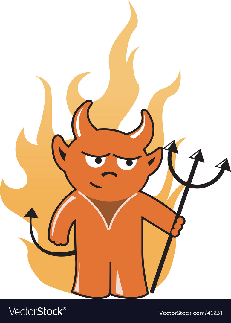 Devil with trident vector   Price: 1 Credit (USD $1)