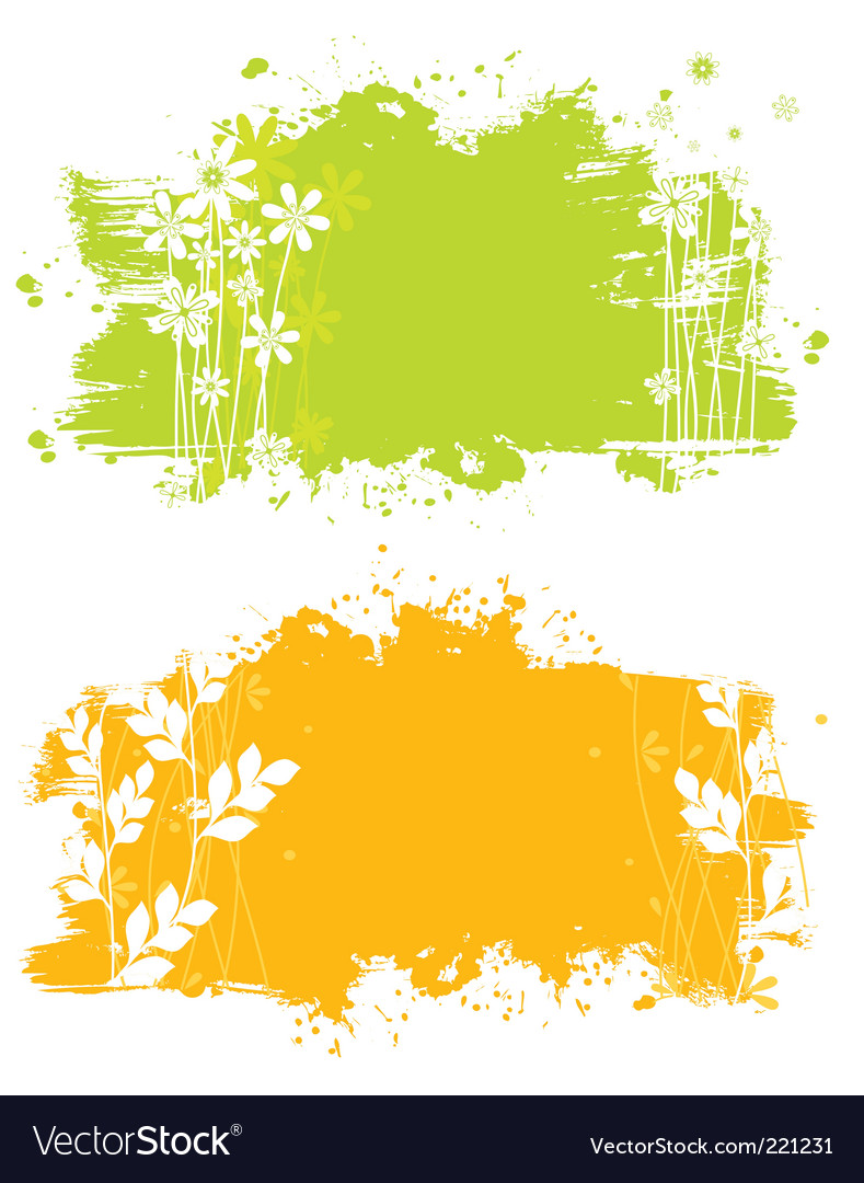 Floral splash back vector | Price: 1 Credit (USD $1)