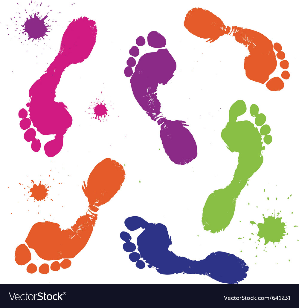 Foot prints vector | Price: 1 Credit (USD $1)