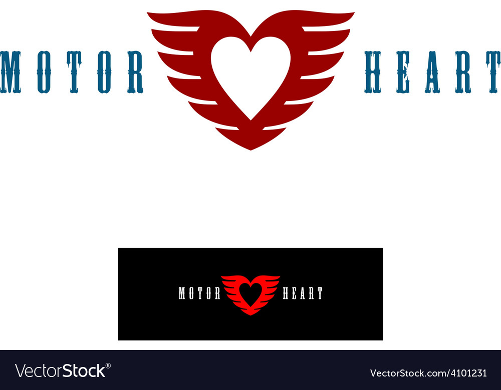 Motor heart logo template vector | Price: 1 Credit (USD $1)