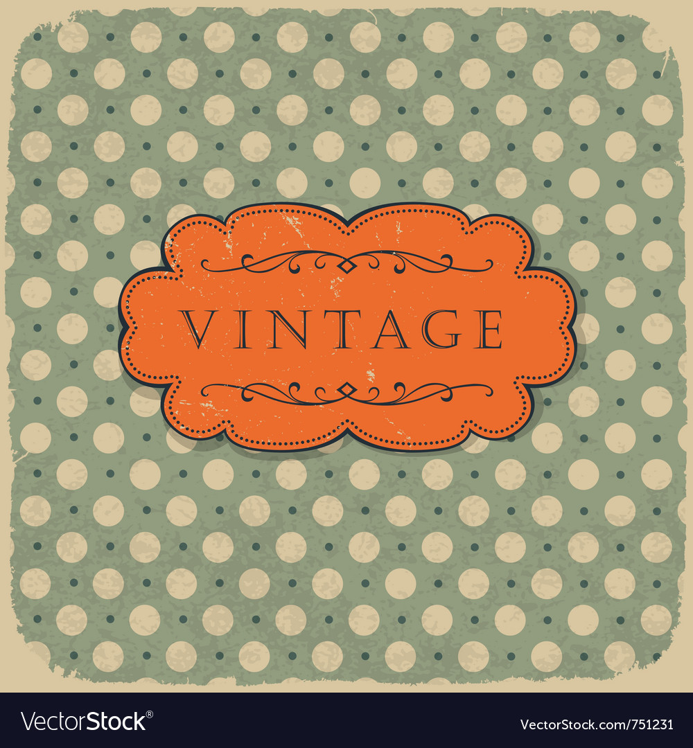 Polka vintage background vector | Price: 1 Credit (USD $1)