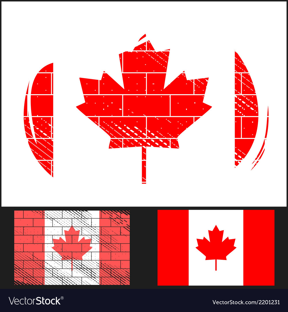 Scratched flag of canada vector | Price: 3 Credit (USD $3)