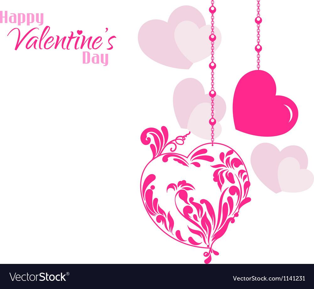 Valentine designer hearts background vector | Price: 1 Credit (USD $1)