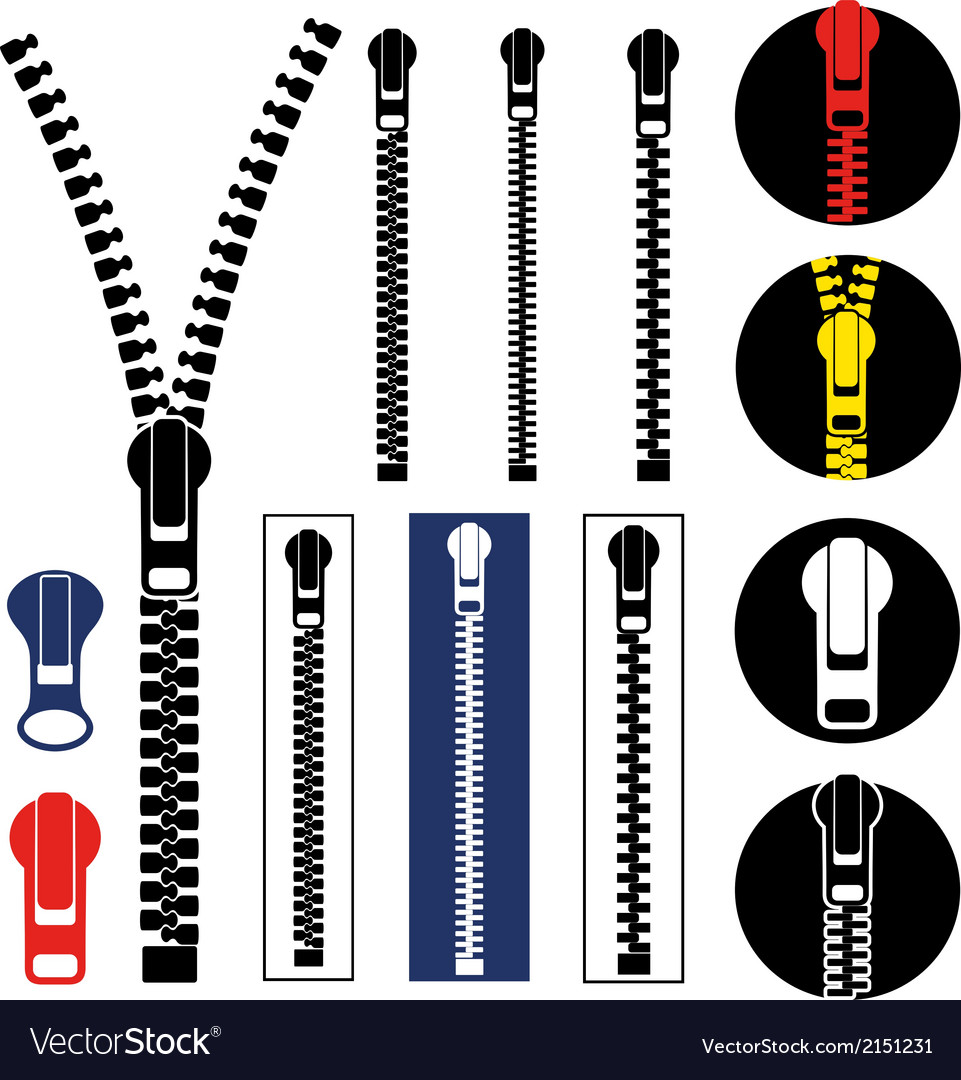 Zipper vector | Price: 1 Credit (USD $1)