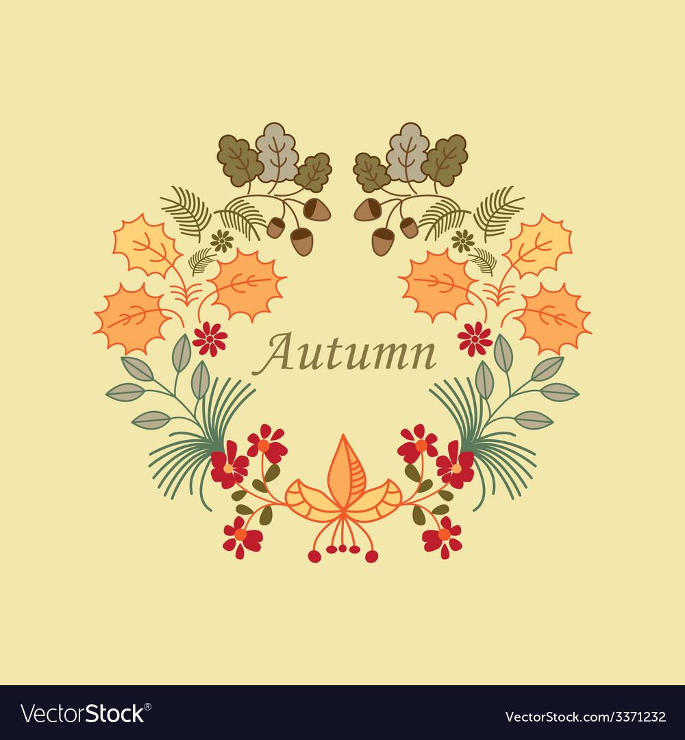 Autumn wreath vector   Price: 1 Credit (USD $1)