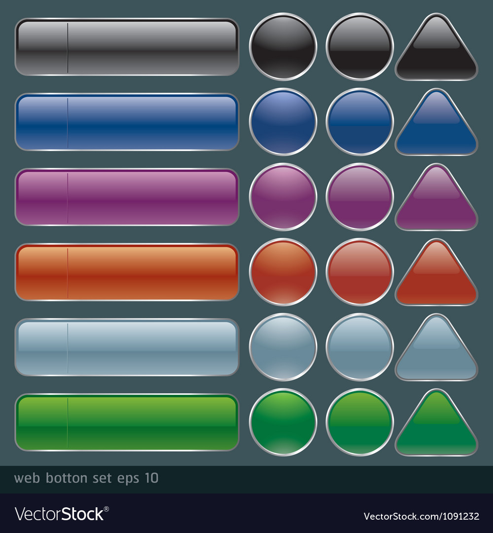 Blank buttons for website and application vector   Price: 1 Credit (USD $1)