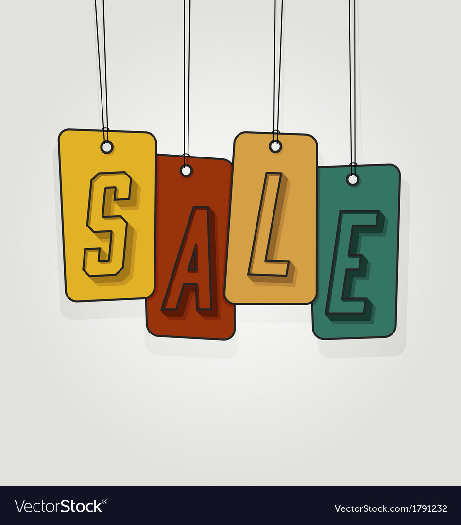 Colorful gift tags or price labels wording sale vector | Price: 1 Credit (USD $1)