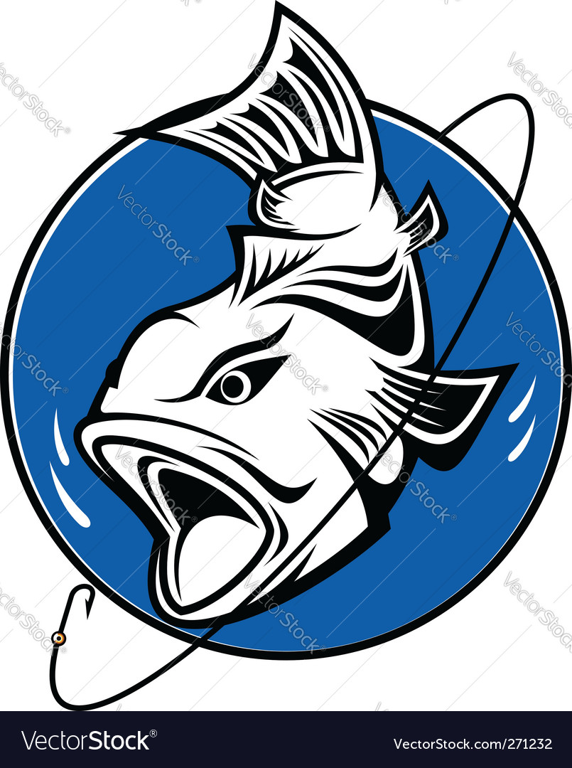 Fishing symbol vector | Price: 1 Credit (USD $1)