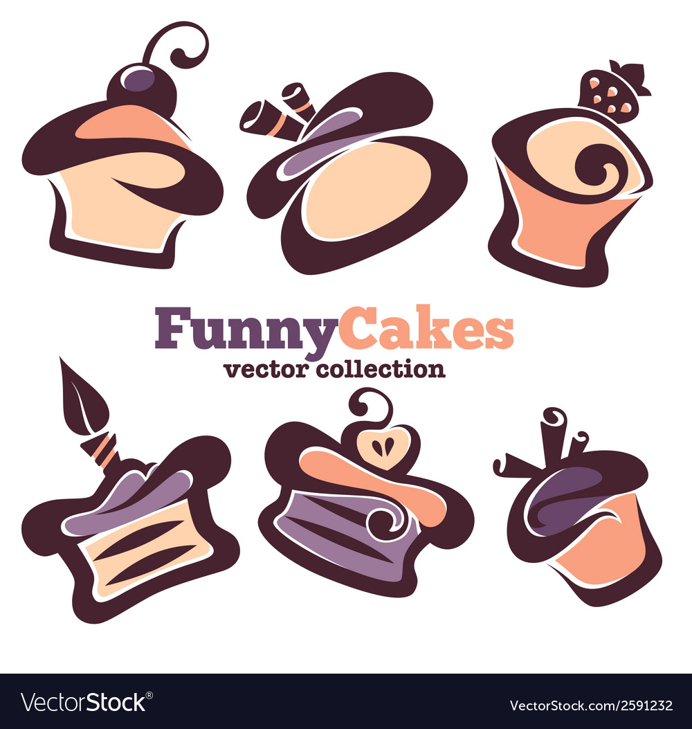 Funny cakes vector | Price: 1 Credit (USD $1)