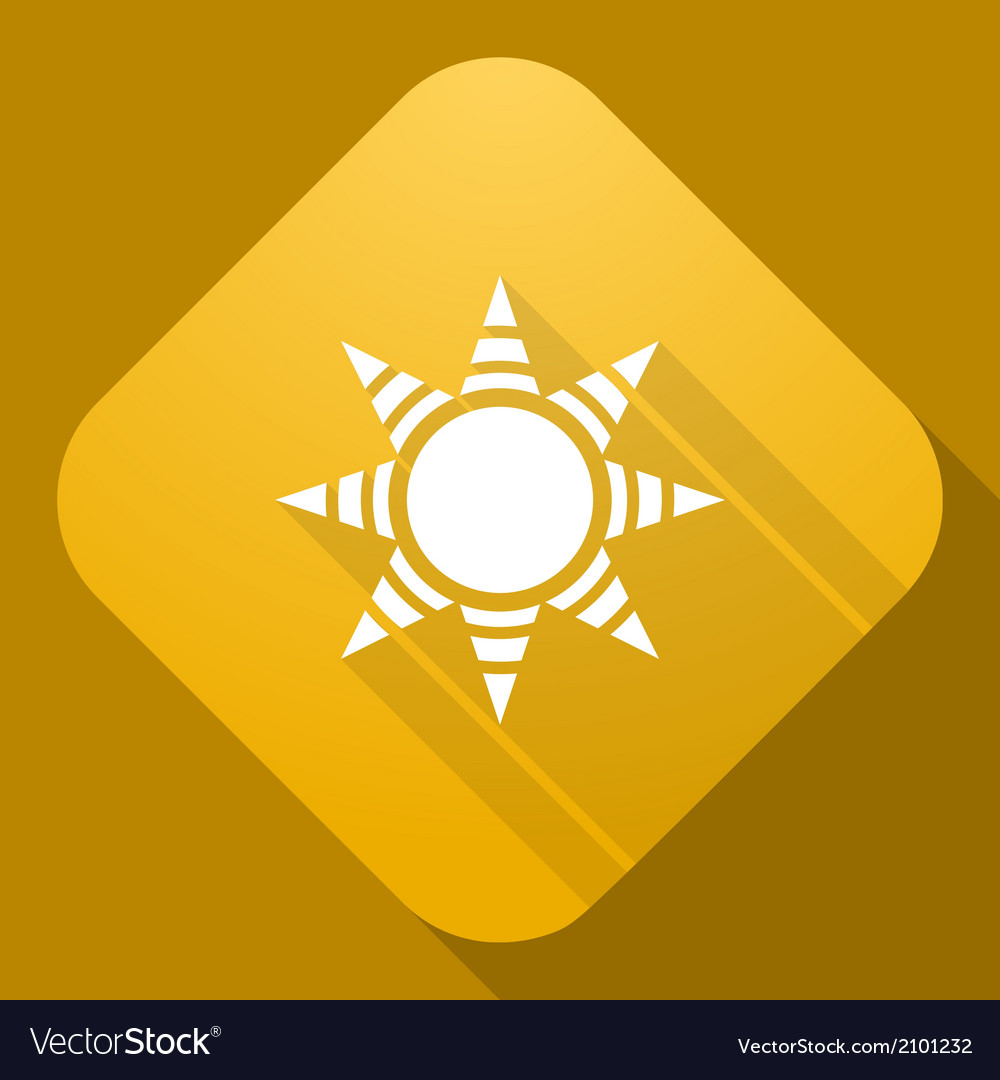 Icon of sun with a long shadow vector | Price: 1 Credit (USD $1)