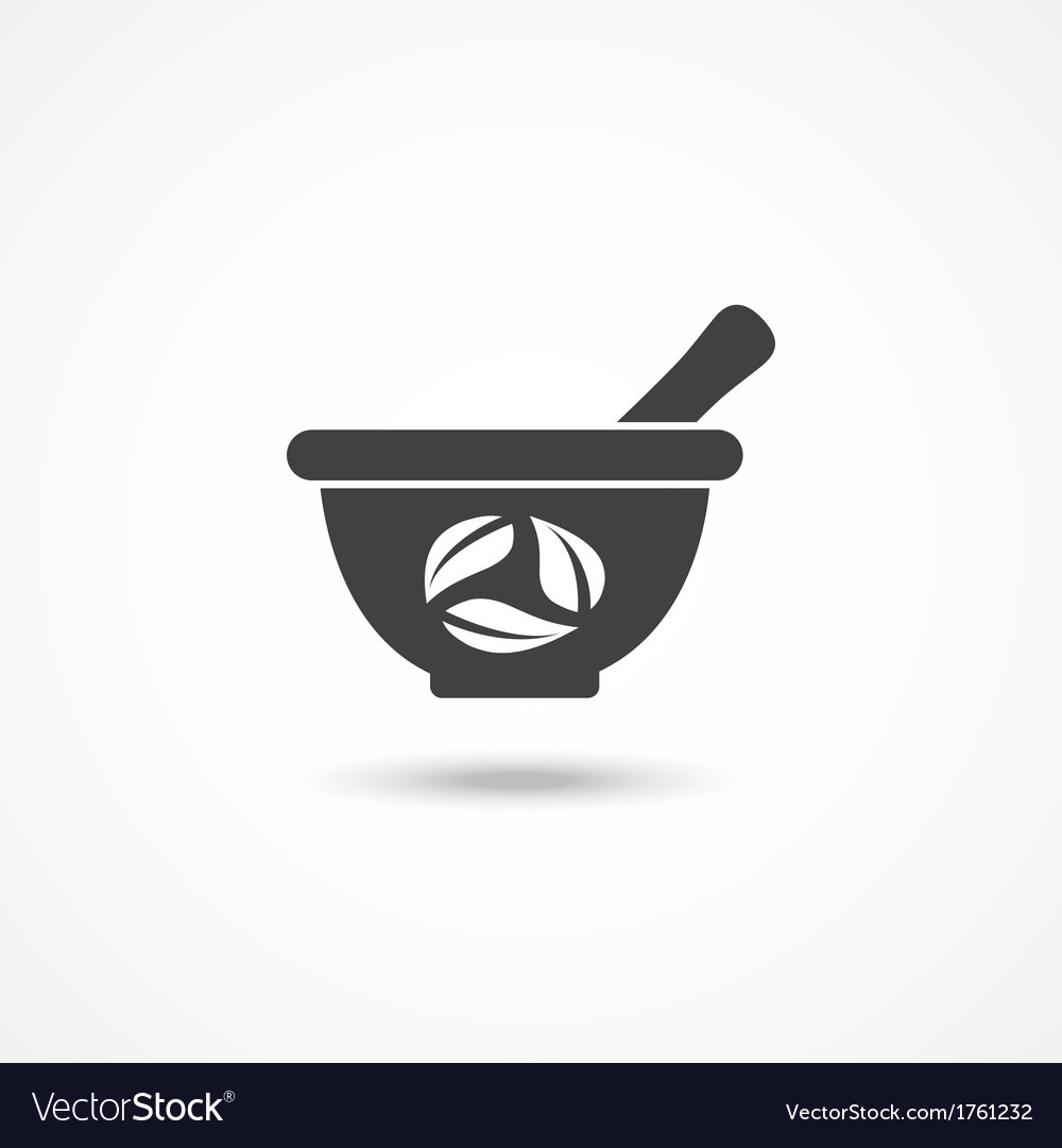 Mortar and pestle icon vector | Price: 1 Credit (USD $1)
