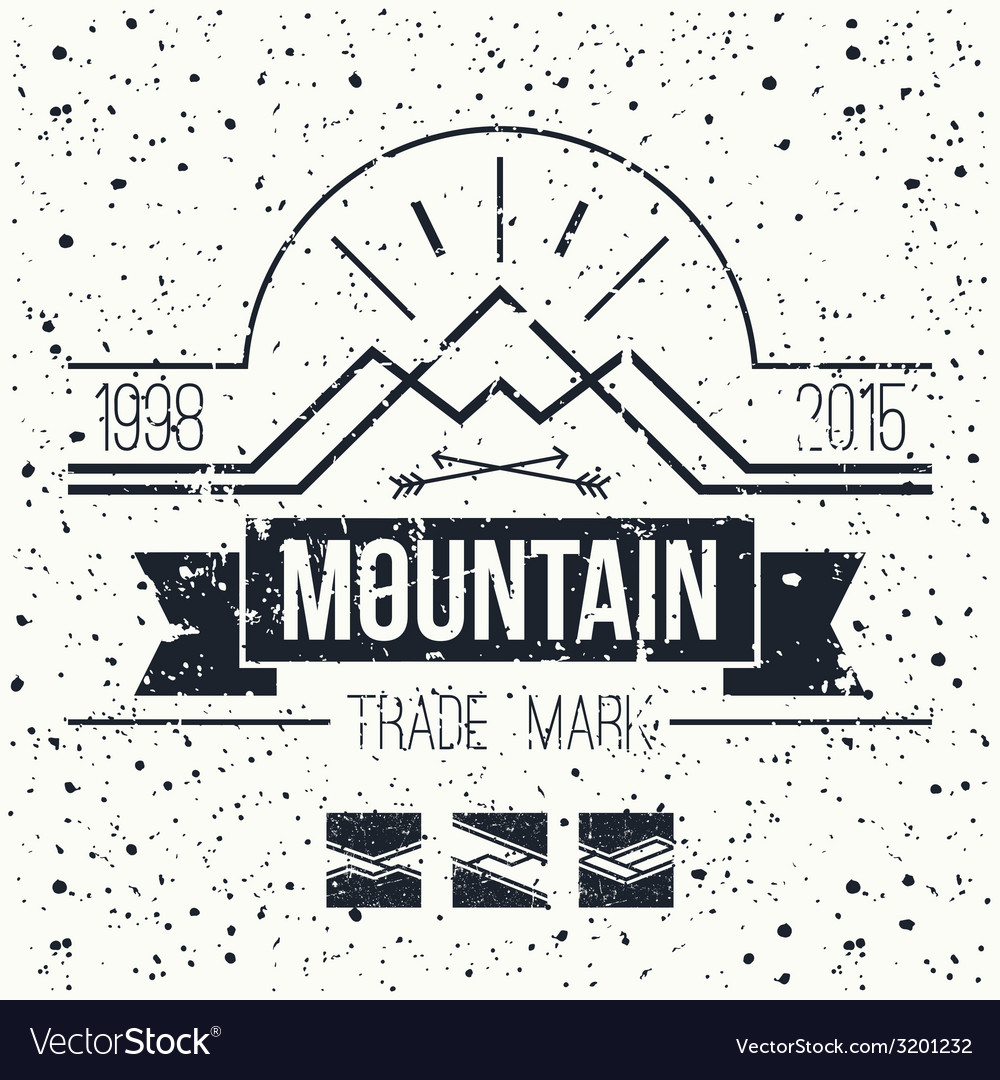 Mountain retro emblem vector | Price: 1 Credit (USD $1)