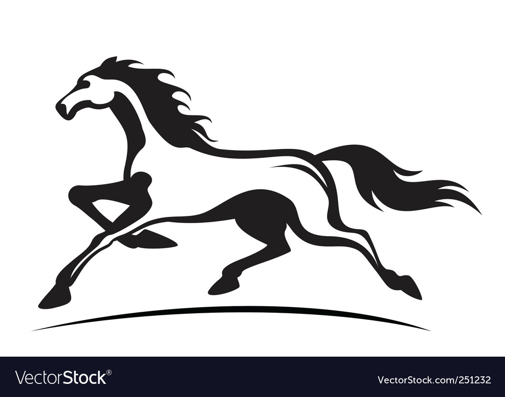 Running stallion vector | Price: 1 Credit (USD $1)