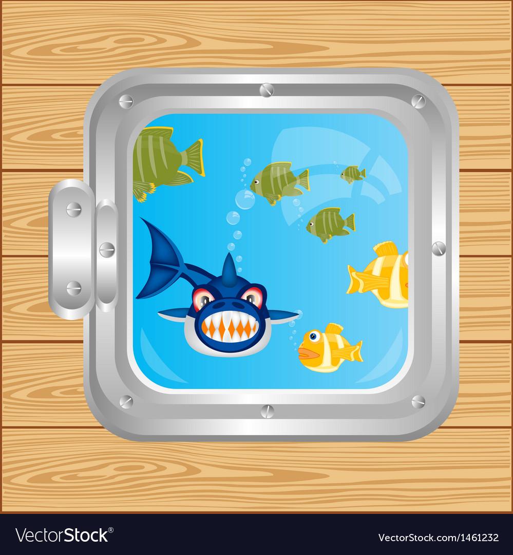 Window in ocean vector | Price: 1 Credit (USD $1)