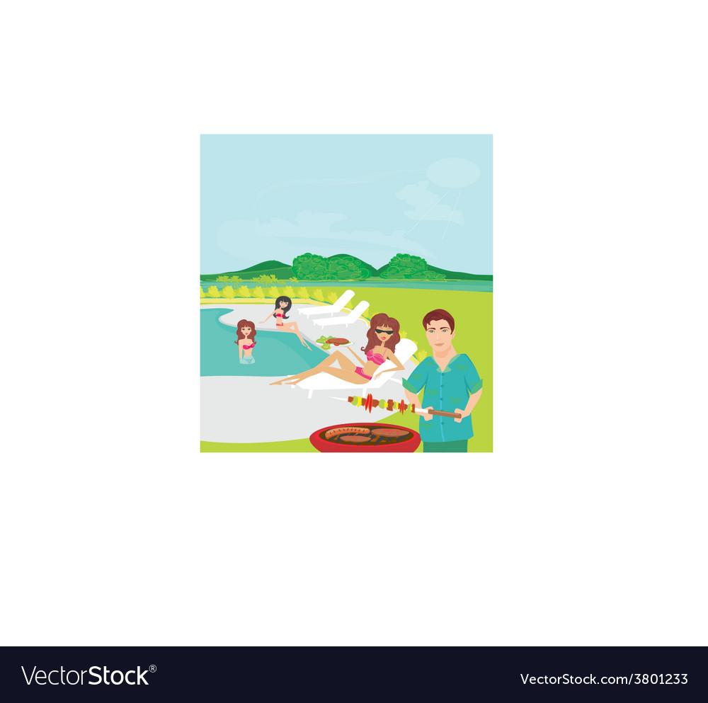 Barbecue party vector   Price: 1 Credit (USD $1)