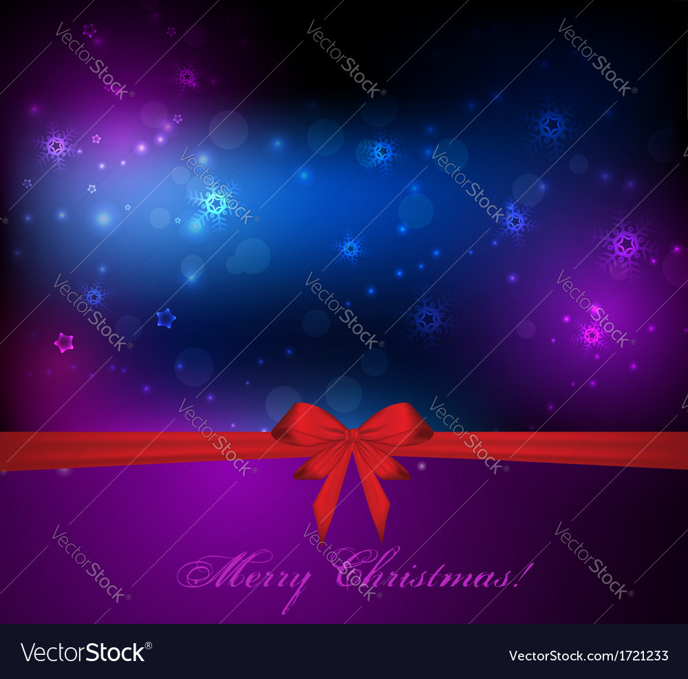 Christmas background with gift red bow vector | Price: 1 Credit (USD $1)