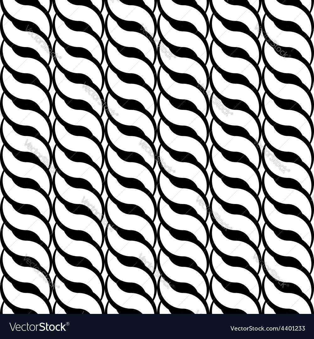 Design seamless monochrome interlaced pattern vector | Price: 1 Credit (USD $1)