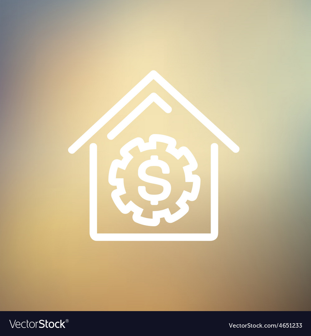 House online payment thin line icon vector | Price: 1 Credit (USD $1)