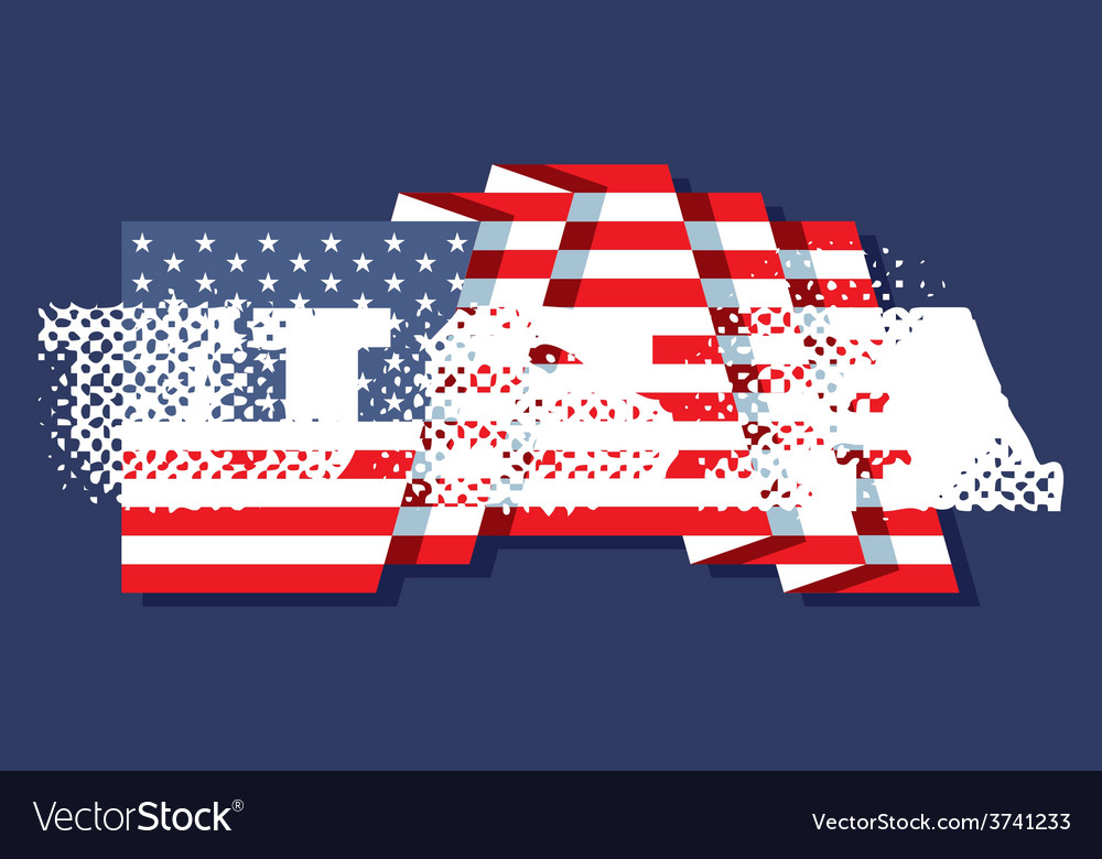The inscriptions usa and flag of america vector | Price: 1 Credit (USD $1)