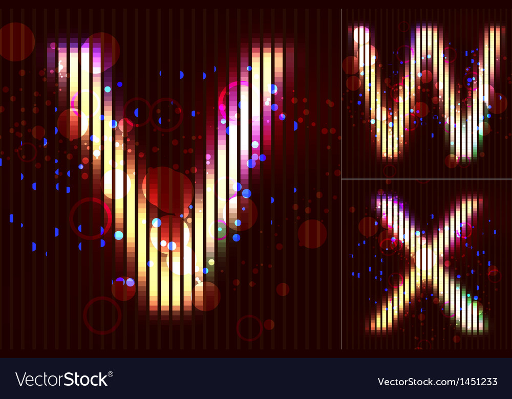Neon light alphabet - vwx vector | Price: 1 Credit (USD $1)
