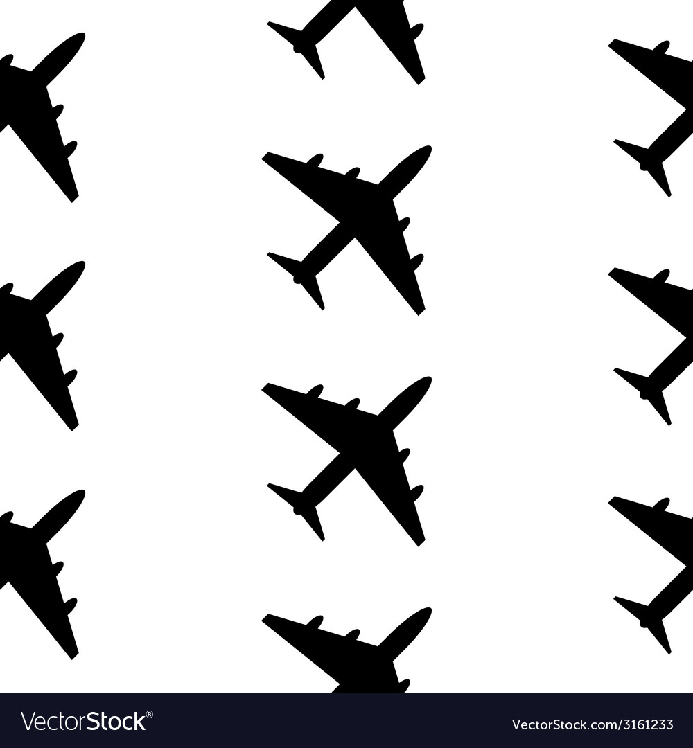 Plane symbol seamless pattern vector | Price: 1 Credit (USD $1)