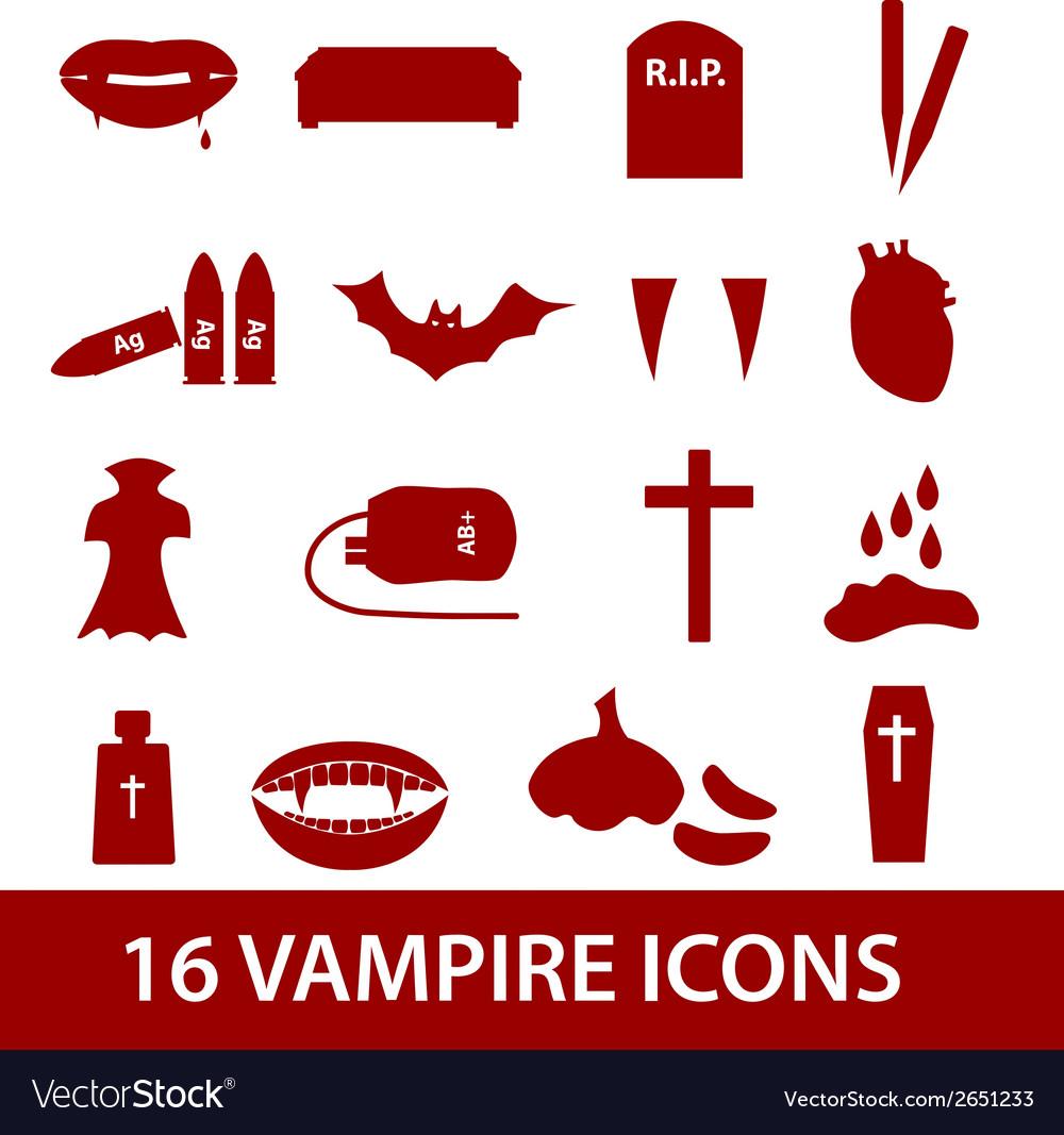 Vampire icon set eps10 vector | Price: 1 Credit (USD $1)