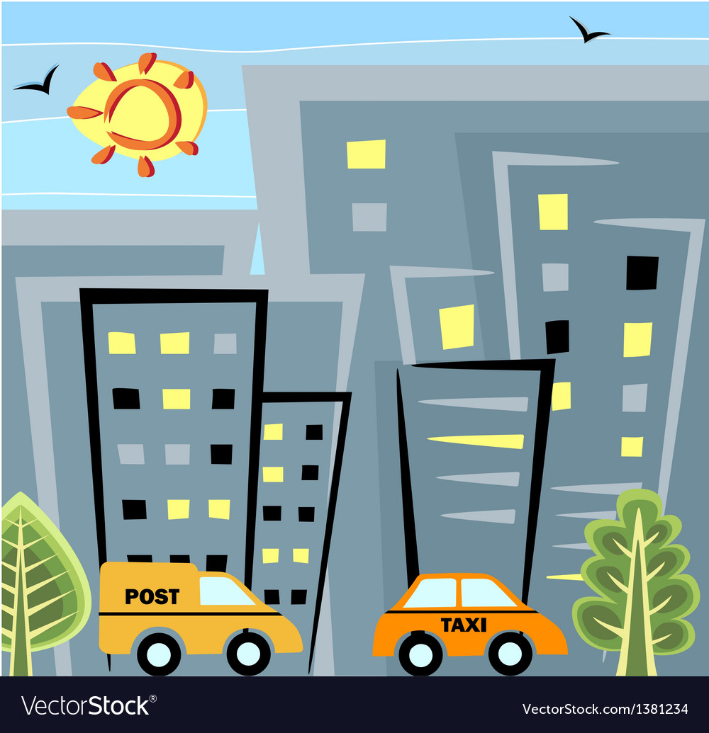 City life vector | Price: 1 Credit (USD $1)