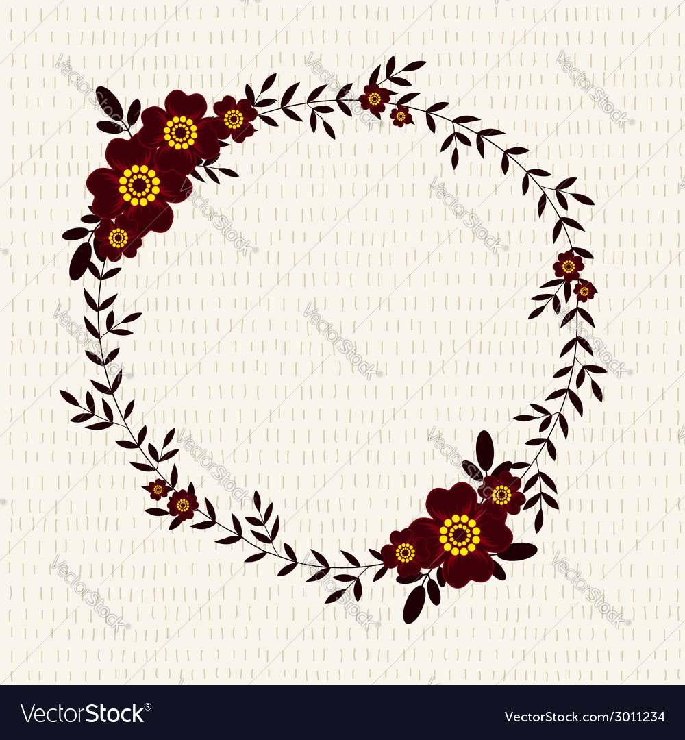 Cute frame with marigolds vector | Price: 1 Credit (USD $1)