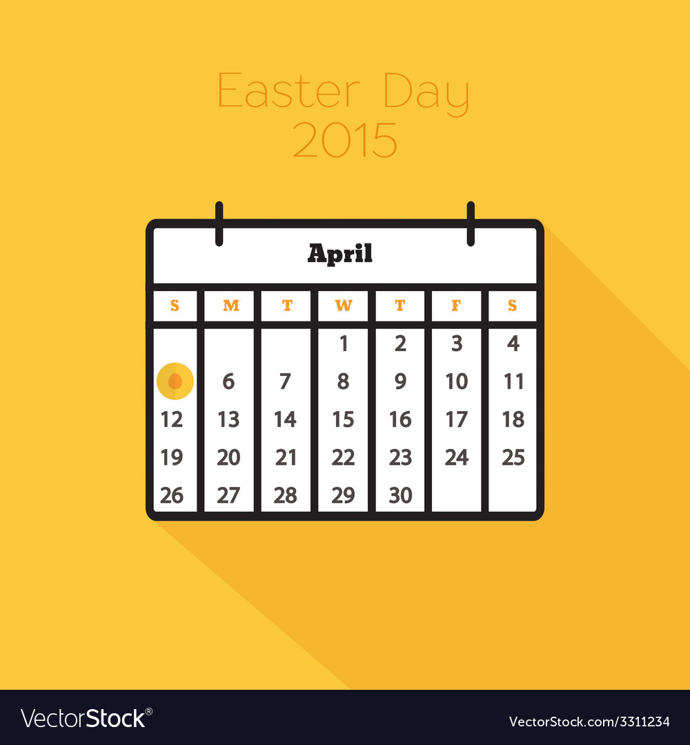 Flat holiday calendar icon vector | Price: 1 Credit (USD $1)