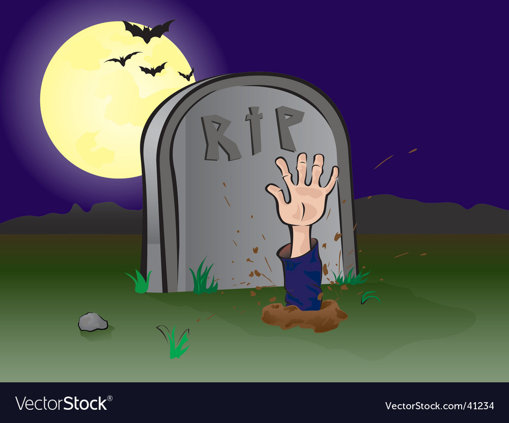Graveyard hand vector | Price: 1 Credit (USD $1)