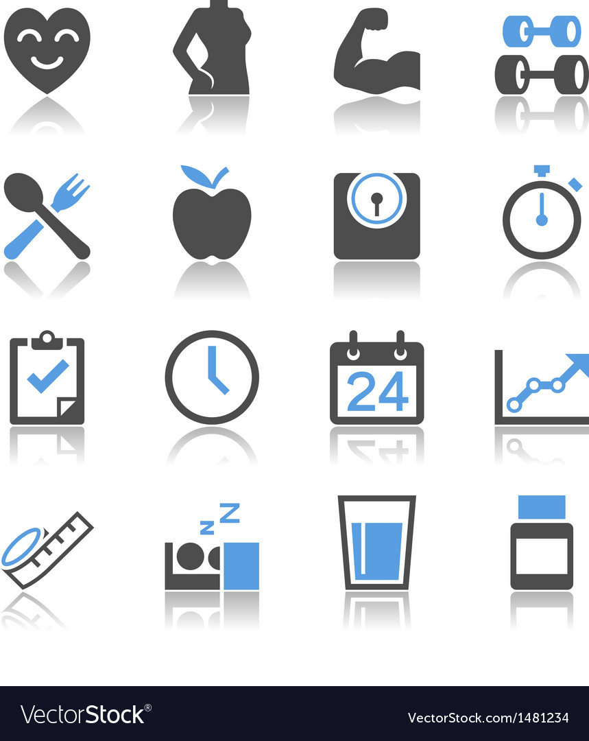 Healthcare icons reflection vector | Price: 1 Credit (USD $1)