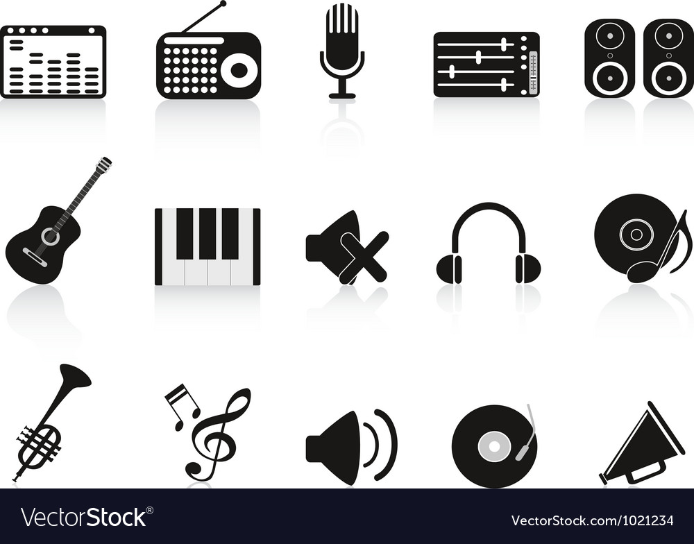 Music sound equipment icon vector | Price: 1 Credit (USD $1)
