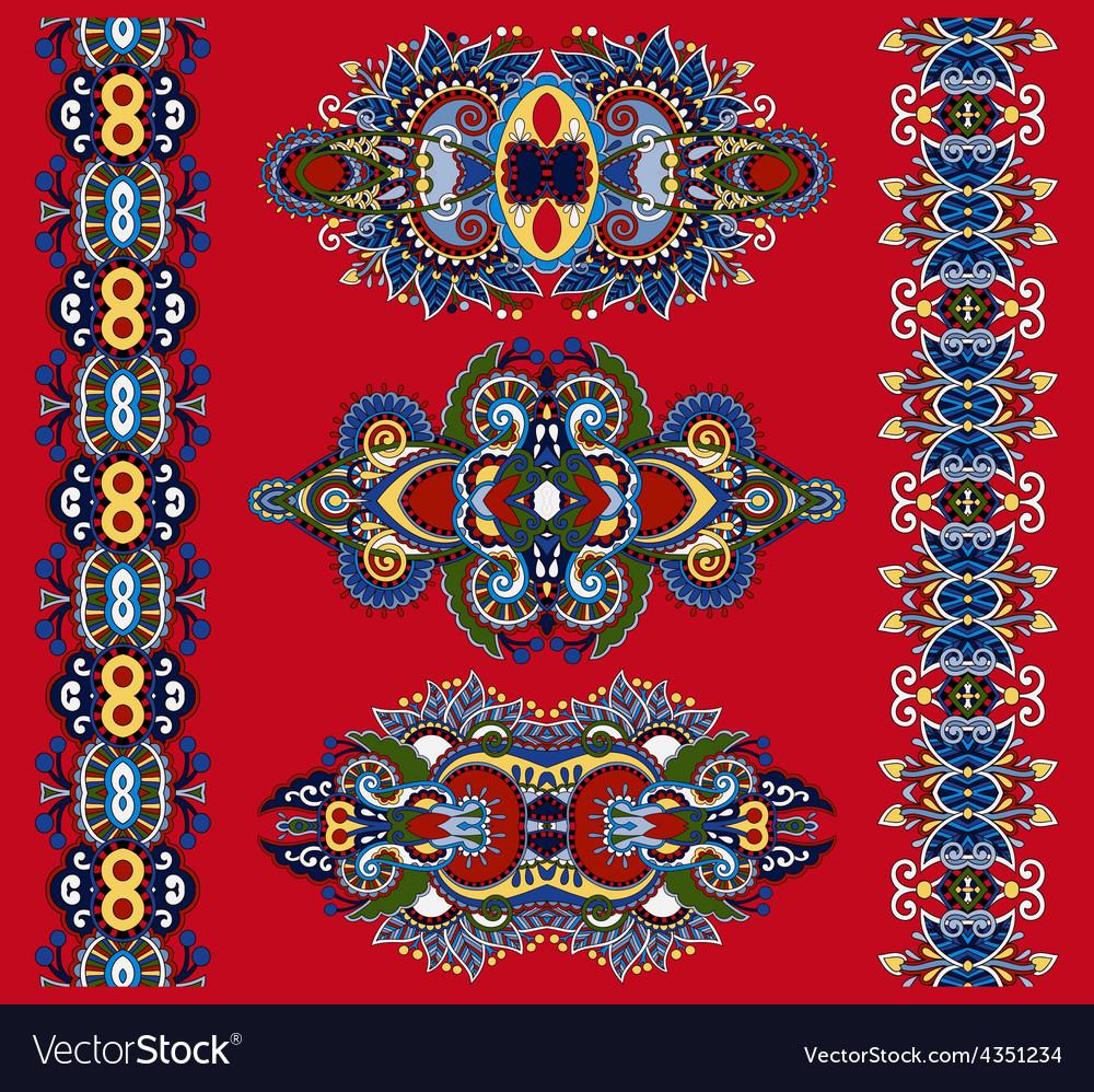 Ornamental ethnic decorative floral adornment vector | Price: 1 Credit (USD $1)