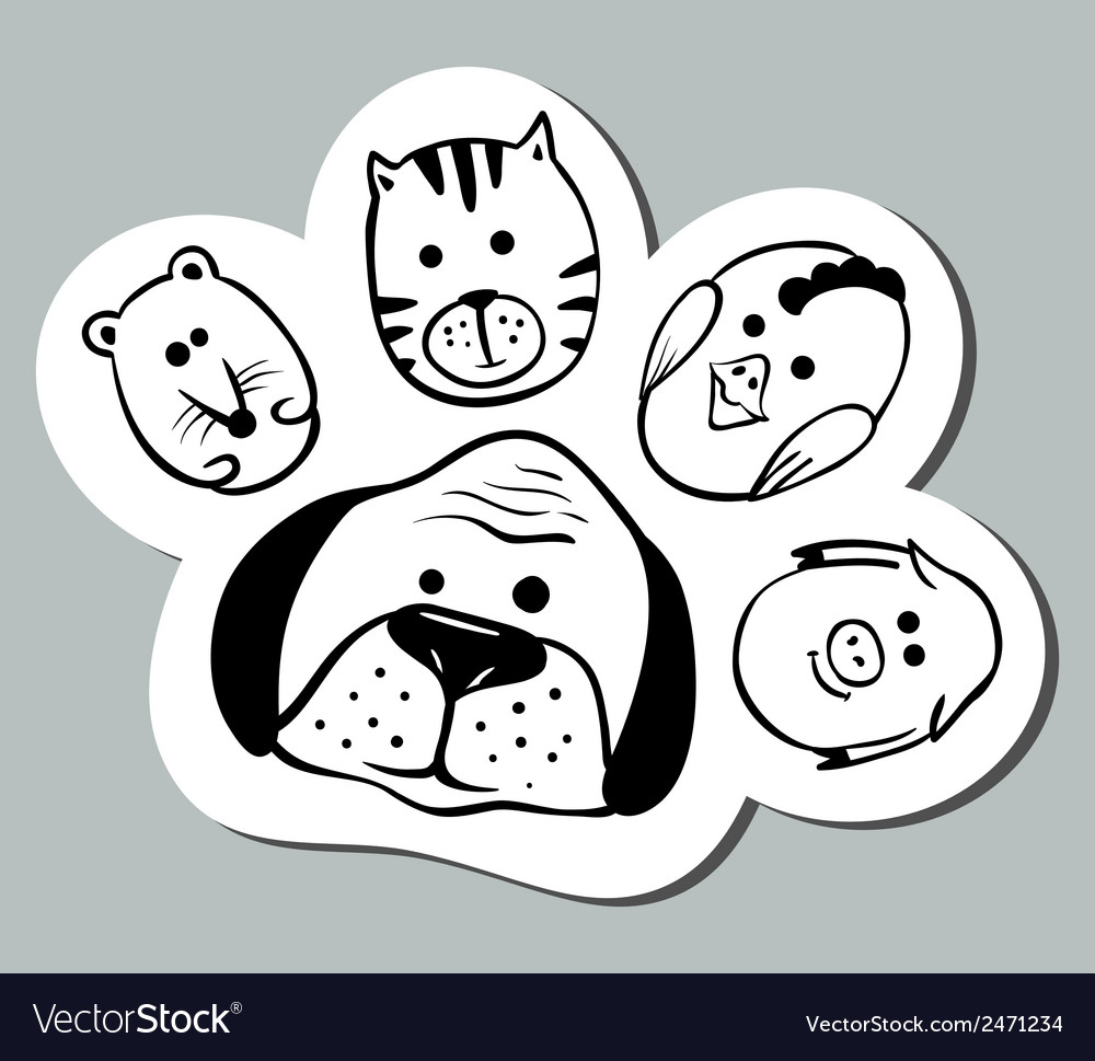 Paw shape vector | Price: 1 Credit (USD $1)