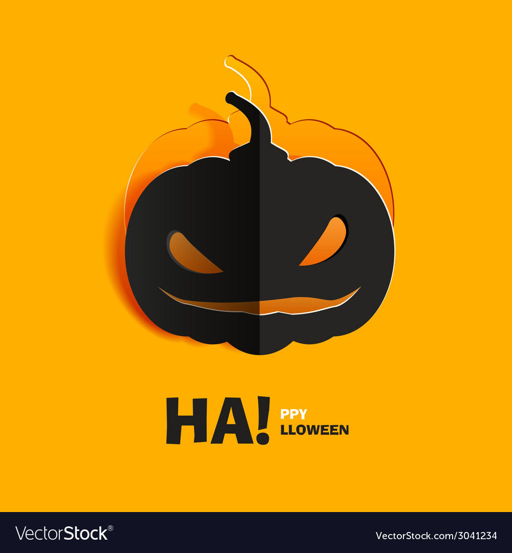 Pumpkin cut out of paper vector | Price: 1 Credit (USD $1)