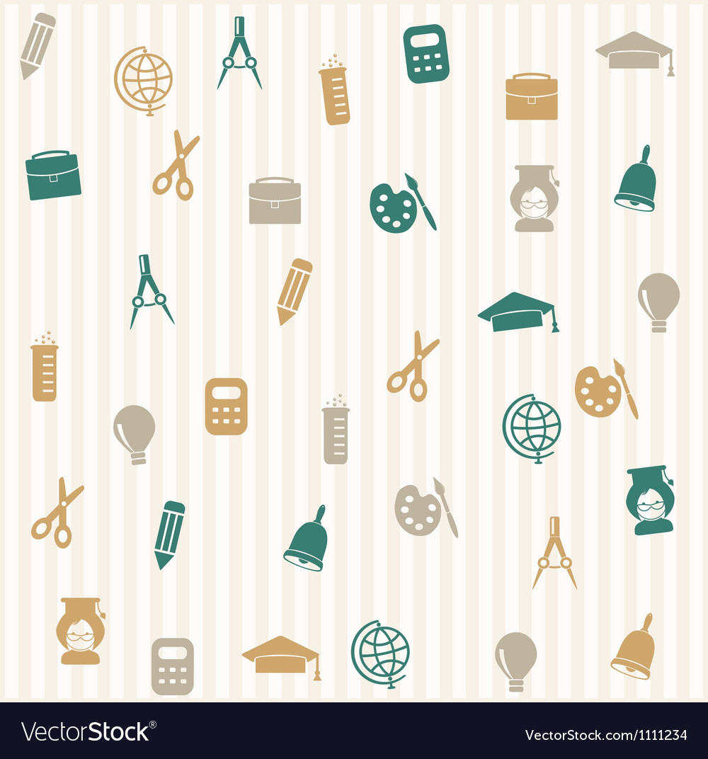 School seamless pattern 3 vector | Price: 1 Credit (USD $1)