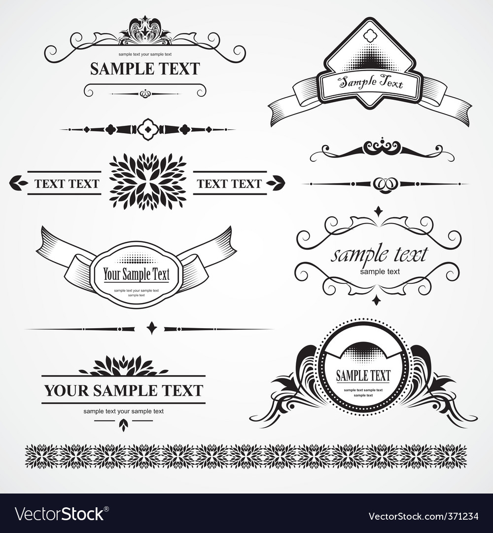 Set of design elements vector | Price: 1 Credit (USD $1)