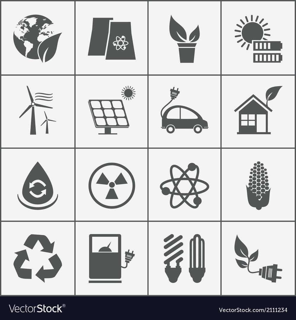 Set of eco energy icons vector | Price: 1 Credit (USD $1)