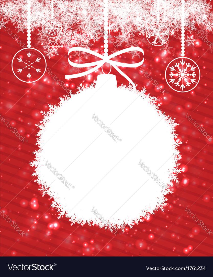 White christmas ball vector   Price: 1 Credit (USD $1)