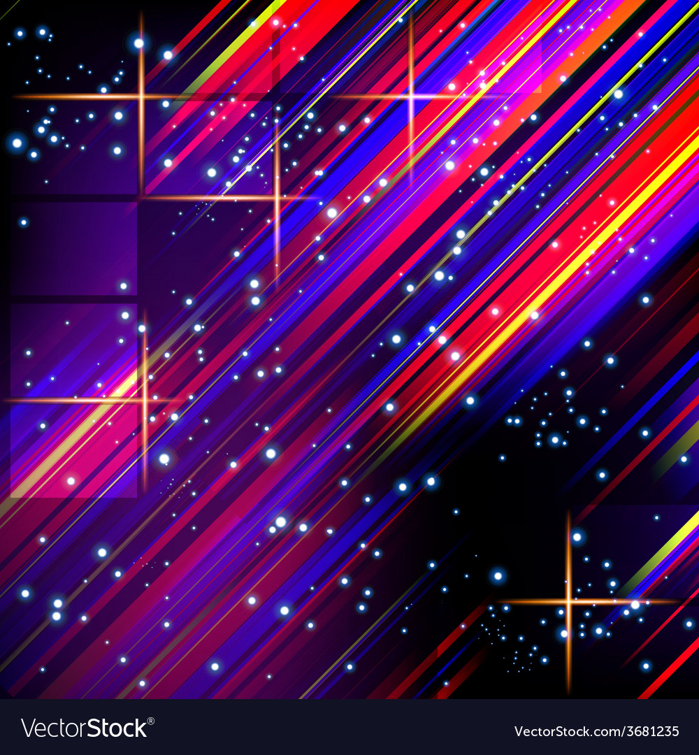 Abstract lines design on dark background vector | Price: 1 Credit (USD $1)