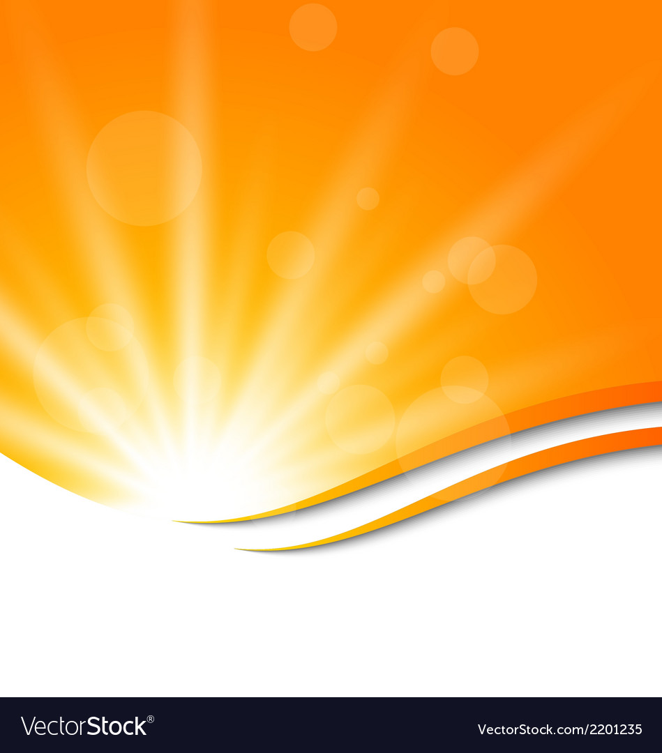 Abstract orange background with sun light rays vector | Price: 1 Credit (USD $1)